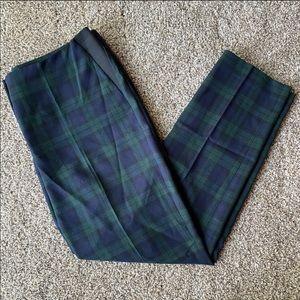 Anne Klein Blue/Green Plaid Pants